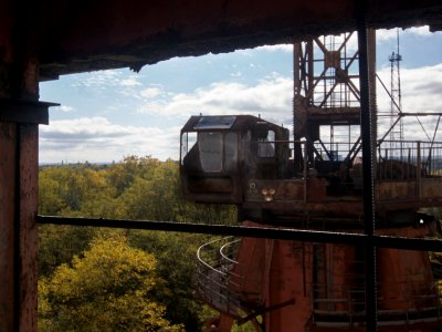 Climb onto the abandoned port crane in Chernobyl