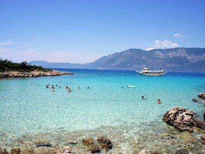Swim at the island of Cleopatra in Marmaris