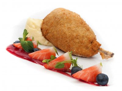 Try Chicken Kiev in Kiev