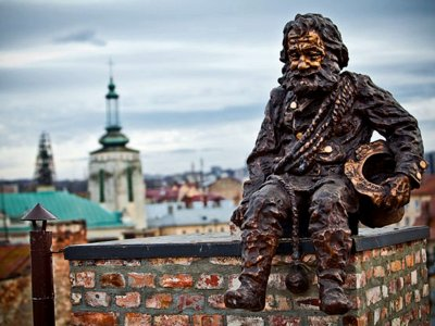 Make a wish at the pipe chimney monument in Lviv