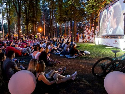 Watch a movie in the open-air cinema in Lviv