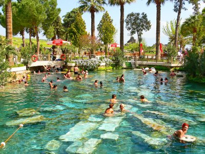 Take a bath in Cleopatra's Antique Pool in Marmaris