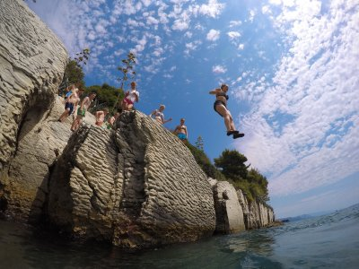 Jump off a cliff into the Adriatic Sea in Split