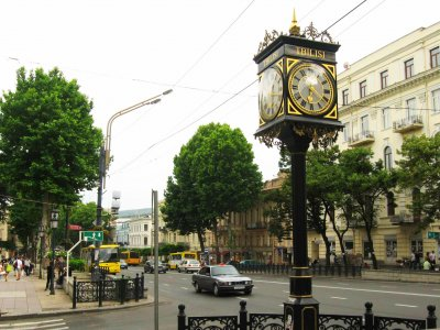Walk along Rustaveli Avenue in Tbilisi