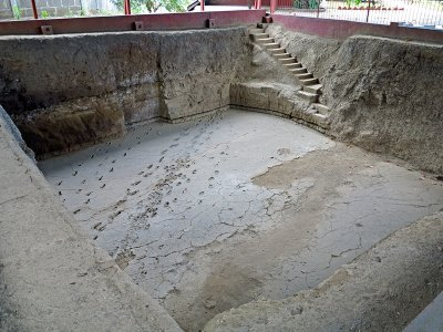 "Visit museum ""Ancient footprints of Acahualinca"" in Managua"