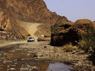 Try wadi bashing in Dubai