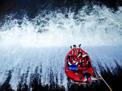 Go rafting down Telaga Waja mountain river in Bali