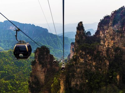 Take a ride on the world's longest cable car in Zhangjiajie