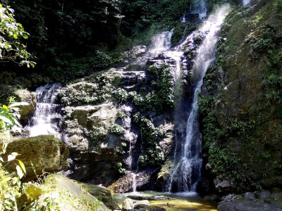 Swim in a man-made waterfall on Mindoro