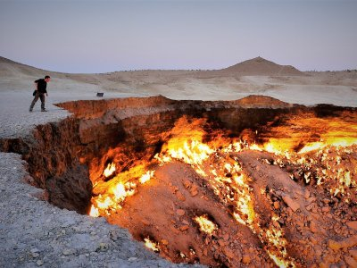 See the Door to Hell in Ashgabad