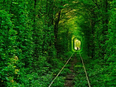 Walk through Tunnel of Love in Rovno