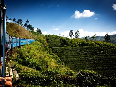 Ride in a freight train in Nuwara Eliya