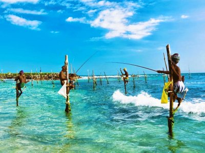 Go stilt fishing in Galle