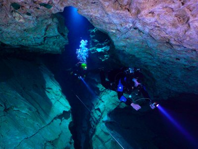 Go underground cave diving in Budapest