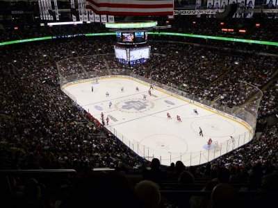 Watch hockey match at Air Canada Centre in Toronto