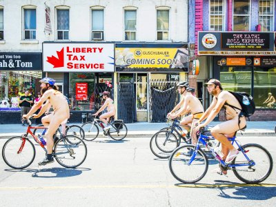 Take part in World Naked Bike Ride in Toronto