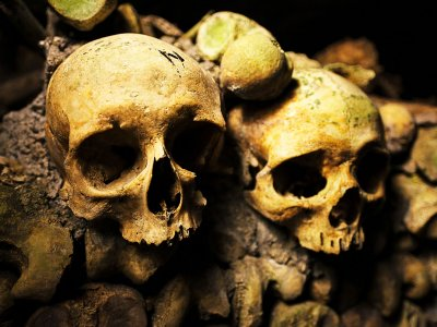 See human skulls under ground in Paris