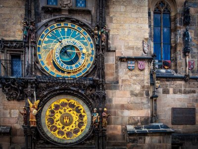 Watch mechanized Prague chime performance in Prague