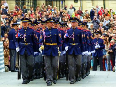 See changing the Guard at Prague Castle in Prague