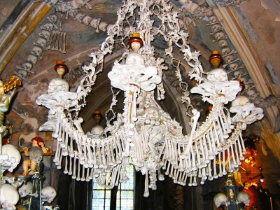 See human bone chandelier in Prague