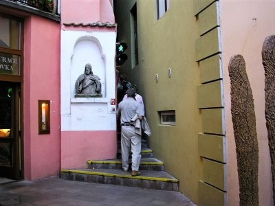 Walk along the narrowest street in Prague