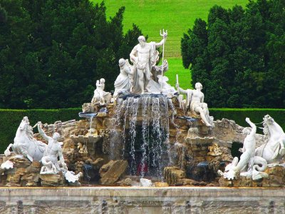 See the Schonbrunn Palace waterfall fountains in Vienna