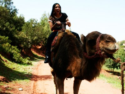 Take a camel ride in the Atlas Mountains in Marrakesh