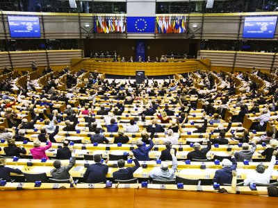 Attend session of the European Parliament in Brussels