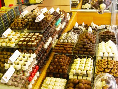 Try Belgian chocolate candies stuffed with praline in Brussels