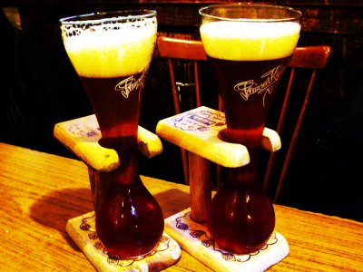 Drink beer like a coachman in Brussels