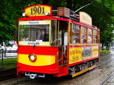 Ride in the first electric tram in Riga