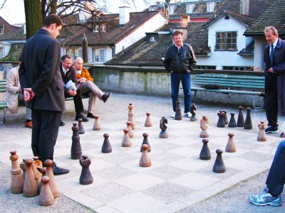 Play giant chess in Zurich