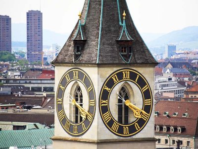 See the biggest European clock in Zurich