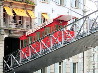 Ride in a funicular in Zurich