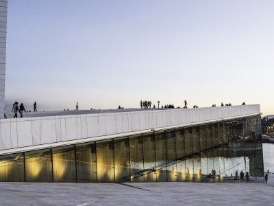 Walk on the Opera House roof in Oslo