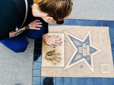 Stroll along the Walk of Fame in Krakow
