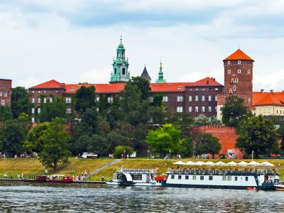 Ride in a motor ship down the Vistula in Krakow