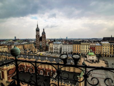 Go up to the Town Hall tower's top in Krakow
