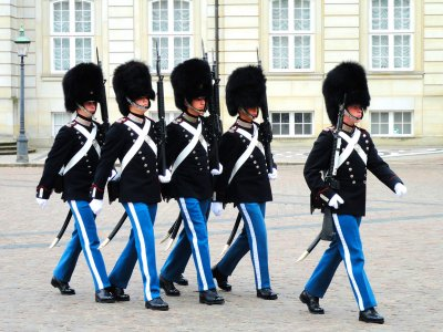 See the change of the guard in Copenhagen