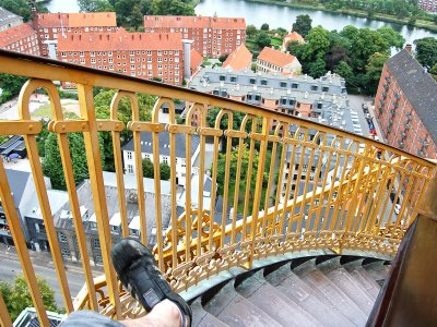 Climb up to the Church of Our Saviour bell tower in Copenhagen