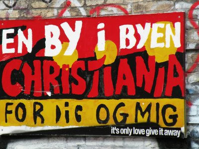 Visit Christiania hippie commune in Copenhagen