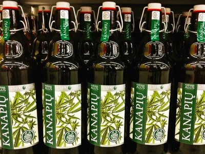 Try hemp beer in Vilnius