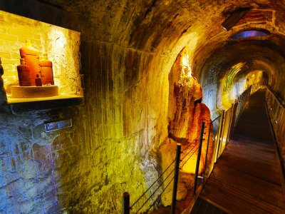 Descend into hot spring underground in Karlovy Vary