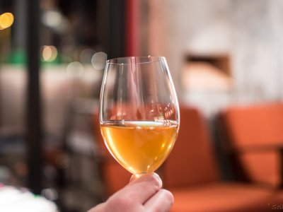 Try orange-coloured wine in Ljubljana
