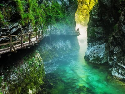 Walk along the Vintgar gorge in Ljubljana