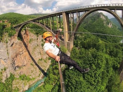 Go ziplining over the canyon in Zabljak