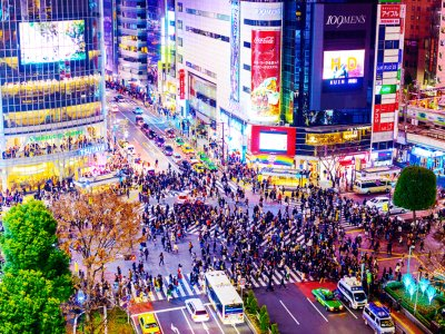 See the most crowded crossing in the world in Tokyo