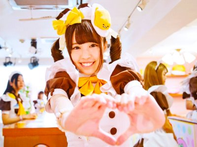 Have breakfast in maid cafe in Tokyo