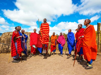 See Maasai tribe dancing in Arusha