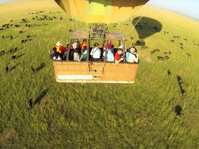 Take a hot-air balloon ride over savannah in Arusha